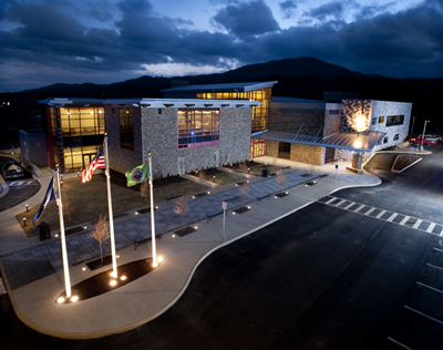 South County Library at dusk