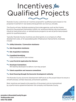 Incentives for Qualified Projects (click for PDF)