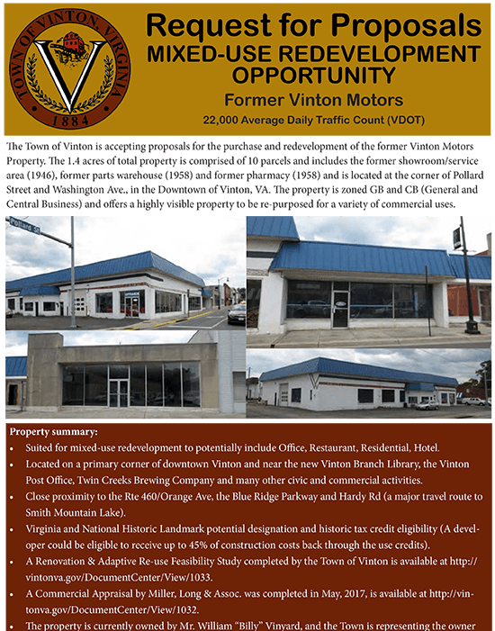 Vinton Motors RFP flyer thumb Opens in new window