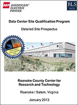 AEP Data Center Site Qualification Program Detailed Site Prospectus Opens in new window